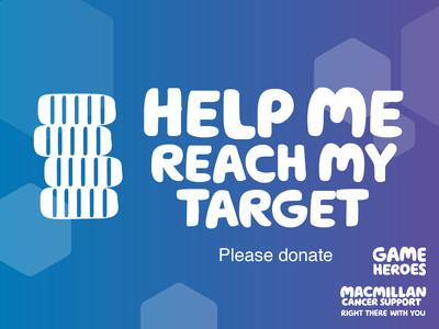 Thumbnail of social media badge saying 'Help me reach my target'