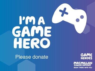 Thumbnail of social media badge saying 'I'm a game hero'