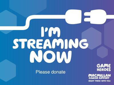 Thumbnail of social media badge saying 'I'm streaming now'